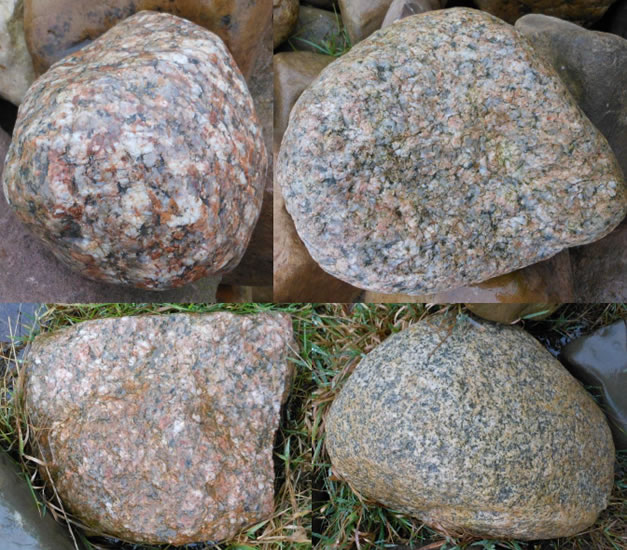 Several different granite erratics have been found at Brockholes