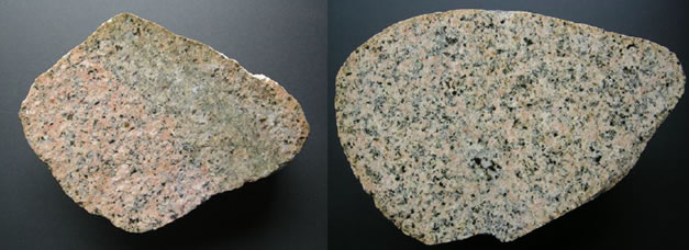 Eskdale granite from the Lake District (two specimens)