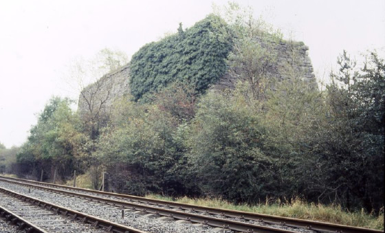 Bank of four industrial scale lime kilns near Bellman Quarry. Clitheroe. Rail sidings (not shown) run underneath the kilns for direct despatch of quicklime Lime Kilns