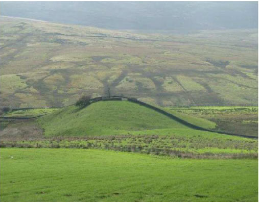 Swaintley Hill – one of many distinctive perforation deposits in the Roeburndale area