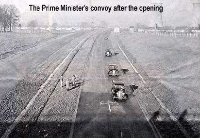 The opening of the M6 Preston bypass (Lancashire County Council archive)